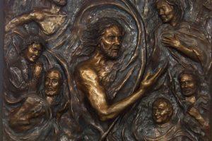 bronze relief sculpture