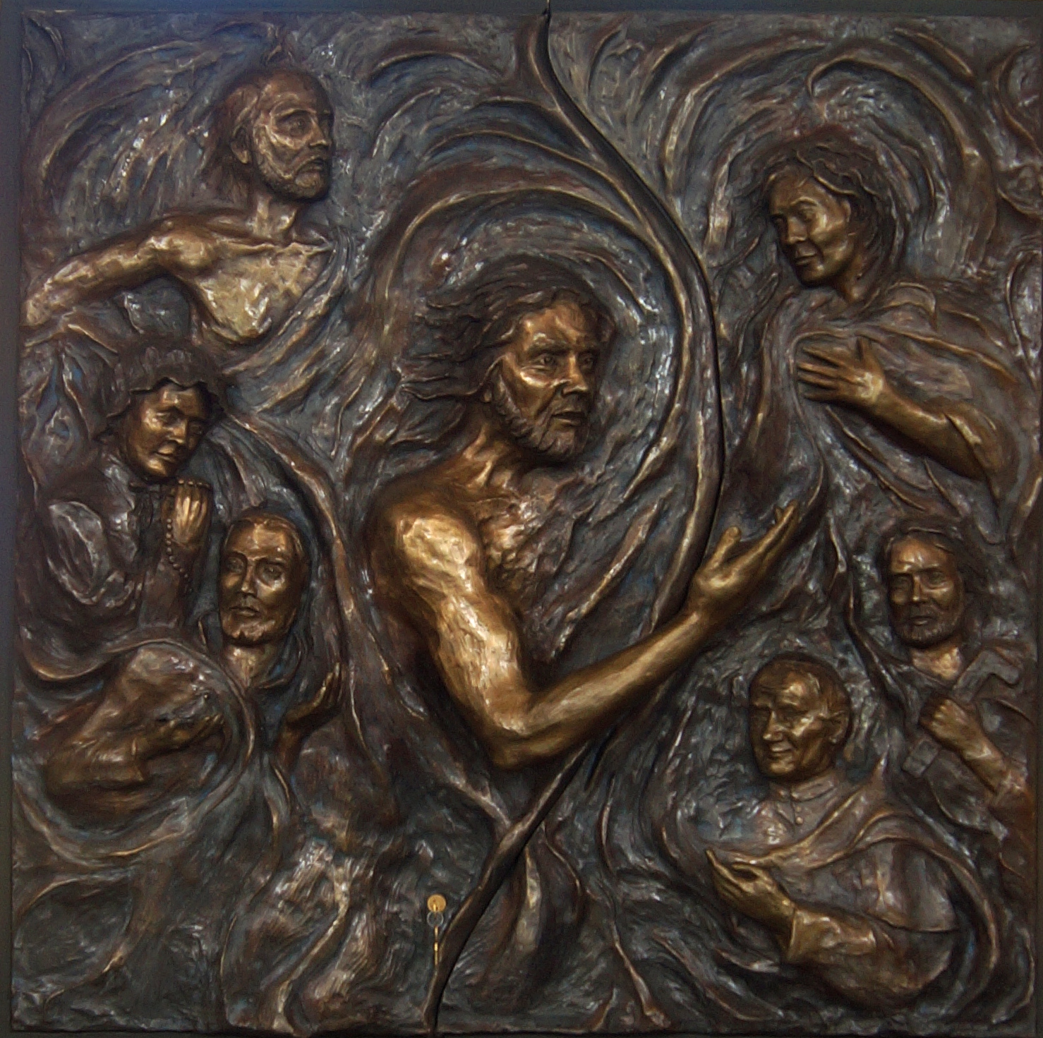 bronze relief sculpture