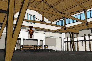 Interior rendering of Sanctuary and Nave