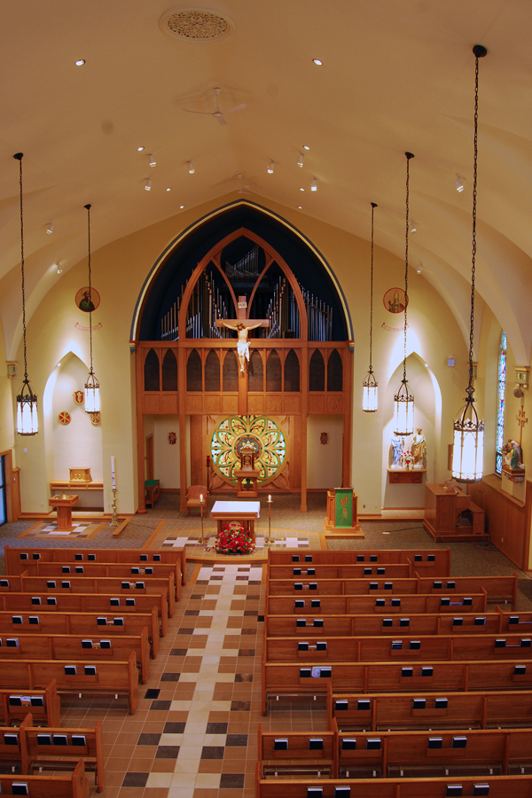 view of church sanctuary