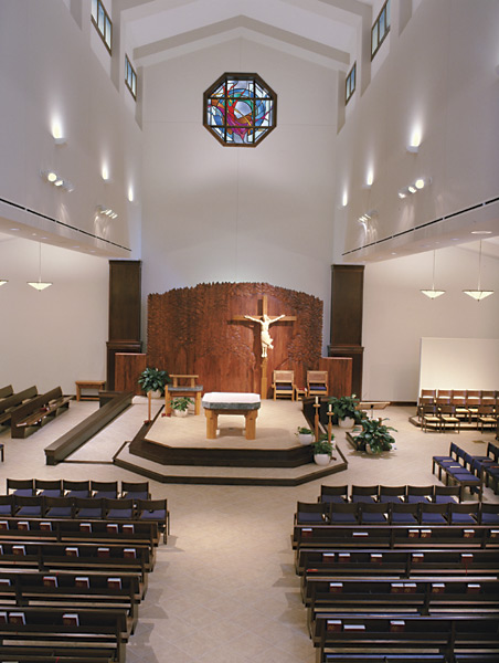View of the Altar and worship space