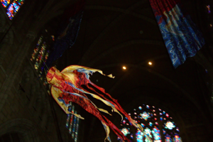 processional kite inside church