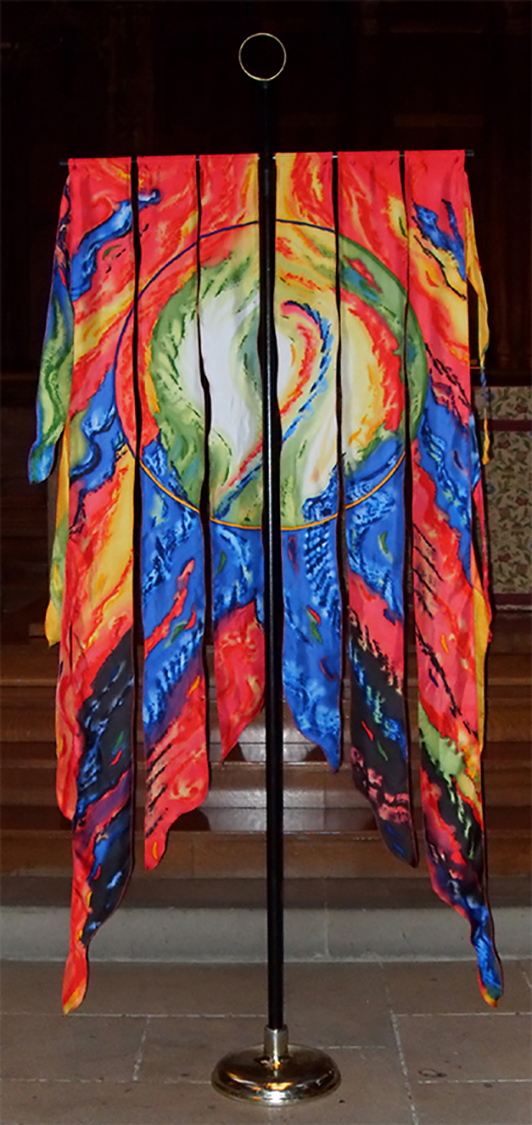 painted processional pieces