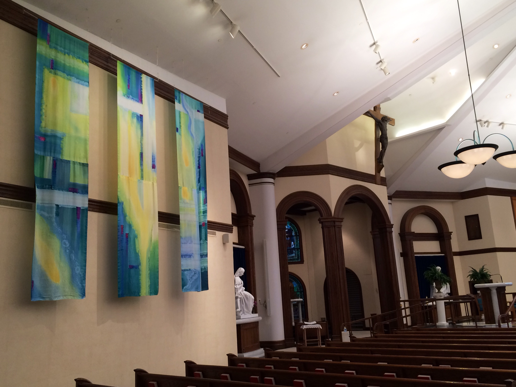 paintings inside church