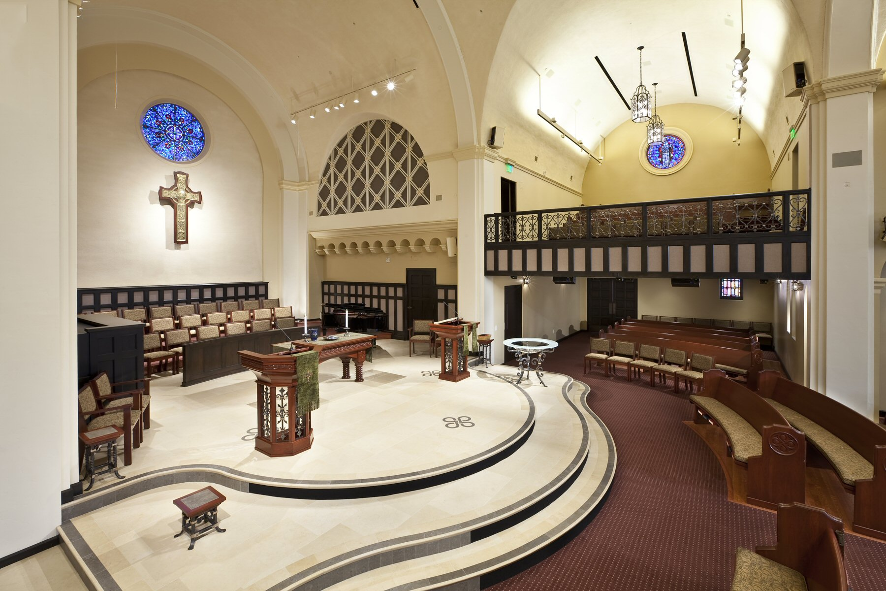 View of Chancel from side Transept at Laguna Presbyterian Church