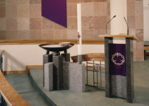 Lectern and Baptismal Font