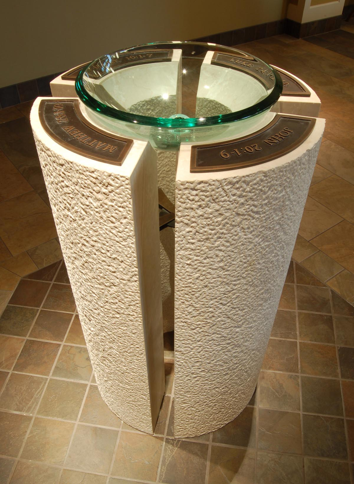 holy water font for marquette university high school