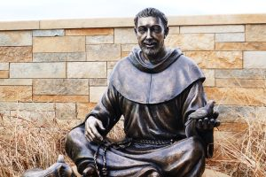 bronze statue of St. Francis