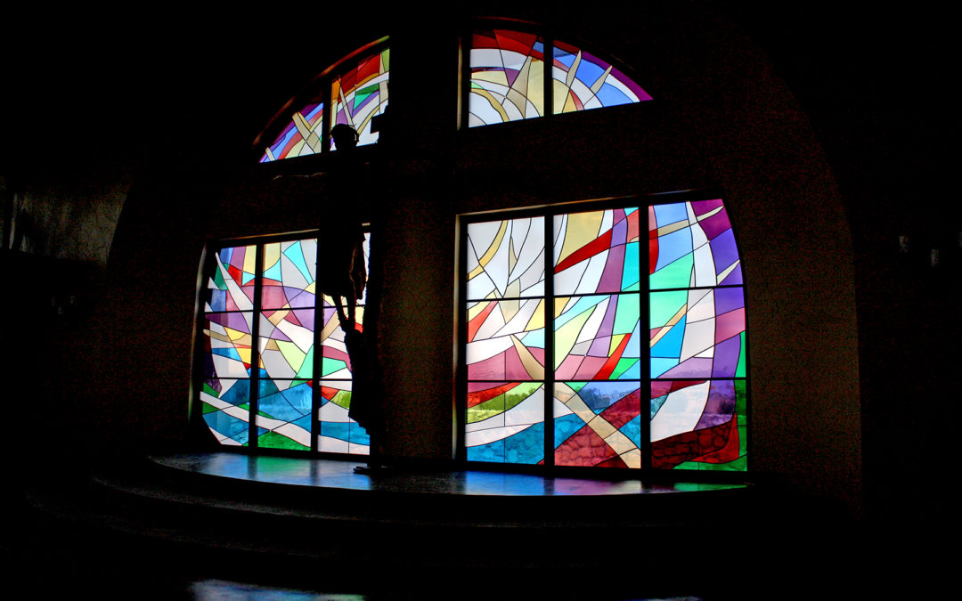 stained glass altar