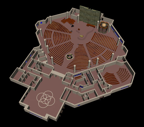 overview of floor plan - isometric